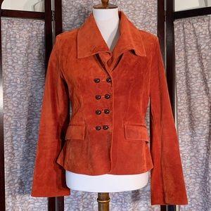 di Vita brick red genuine suede jacket.